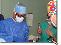 Ankur Patel in Nicaraguan operating room photo