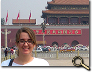Christina in Tiananmen Square photo
